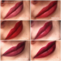 Lipswatches - new shades collage