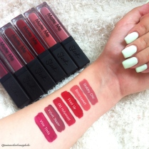 Swatches of the new shades