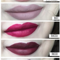 stila all lipswatches